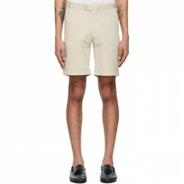 Isaia Beige Cotton Twill Shorts BARECHETTA XP871