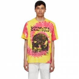 Stolen Girlfriends Club Yellow and Pink Tie-Dye Arch Hill T-Shirt C4-20T001Y