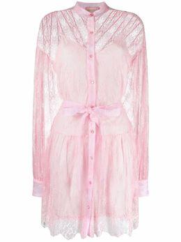 Ermanno Ermanno Scervino платье-рубашка с кружевом AB11PIZ