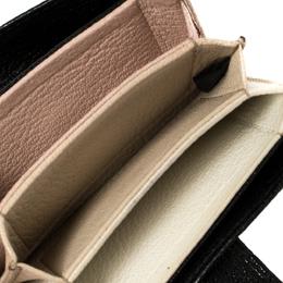 Miu Miu Black Leather Accordion Card Case 417725