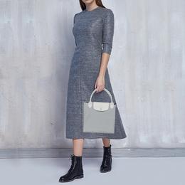 Longchamp Grey Nylon and Leather Small X Nendo Circular Bag 420997