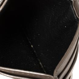 Bottega Veneta Brown Intrecciato Leather Card Case 421609