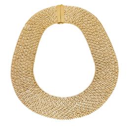 Carolina Herrera Gold Tone Crystal Mesh Band Necklace Ch Carolina Herrera 422730
