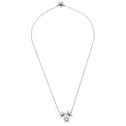 Van Cleef&Arpels Socrate 3 Flowers Diamond 18K White Gold Pendant Necklace 424106