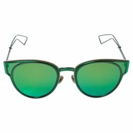 Dior Green Tone/ Green & Purple DiorSculpt Cat Eye Sunglasses 421426