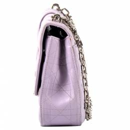 Christian Dior Purple Cannage leather Miss Dior Large Flap Bag 411102