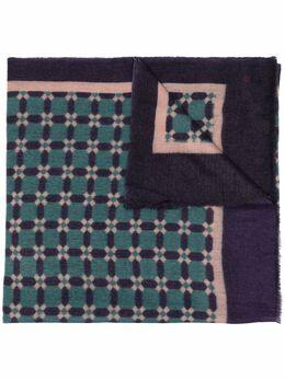 N.peal кашемировый шарф с принтом Lattice NPA107392
