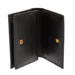 Gucci Black Leather GG Marmont Card Case 425065