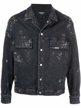 Represent джинсовая куртка с эффектом разбрызганной краски M07063