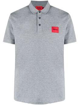 Hugo рубашка поло с нашивкой-логотипом 50447938