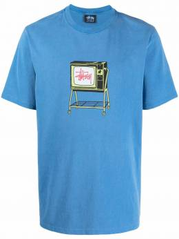 Stussy футболка Rolling TV с графичным принтом 1904672
