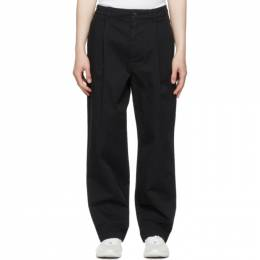 Acne Studios Black Wide-Leg Trousers BK0364-