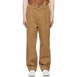 Acne Studios Tan Wide-Leg Trousers BK0364-
