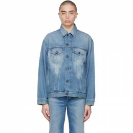 Acne Studios Blue Denim Trucker Jacket B90510-