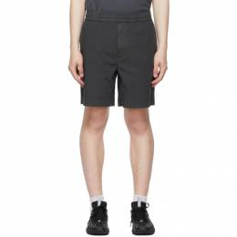 Acne Studios Grey Poplin Loose Shorts BE0058-