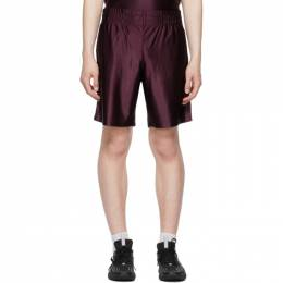 Acne Studios Burgundy Piping Shorts BE0069-