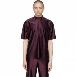 Acne Studios Burgundy Piping T-Shirt BL0240-