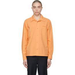 Acne Studios Orange Boxy Cropped Shirt BB0343-