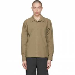 Acne Studios Khaki Boxy Cropped Shirt BB0343-