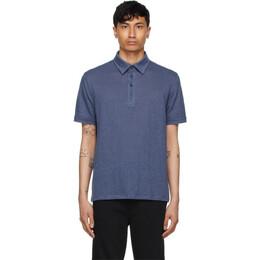 Ermenegildo Zegna Blue Linen Polo UU564-723