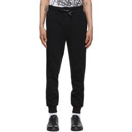 Ermenegildo Zegna Black Ribbed Cuff Lounge Pants N6N0C 108