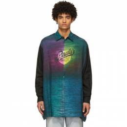 Loewe Multicolor Paulas Ibiza Linen Printed Moon Shirt H616Y05X04