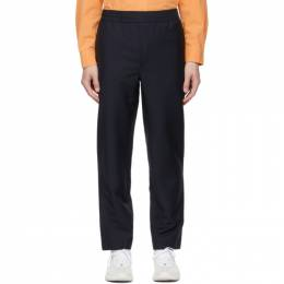 Acne Studios Navy Mohair Casual Trousers BK0312-