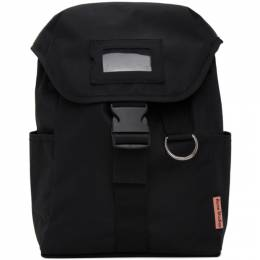 Acne Studios Black Canvas Large Backpack C10076-
