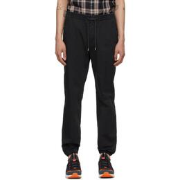 Z Zegna Black Cotton Jogger Lounge Pants VW115-ZZ346
