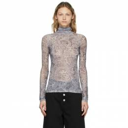 Acne Studios Grey Mesh Paisley Turtleneck AL0200-