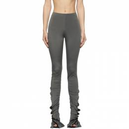 Acne Studios Grey Shirred Leggings AK0400-