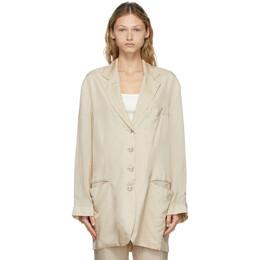Acne Studios Beige Suit Jacket Blazer AH0143-