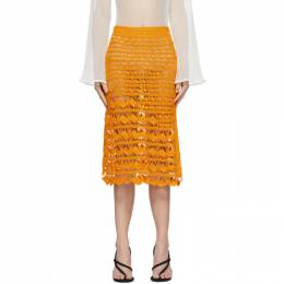 Acne Studios Orange Crochet Skirt AF0194-
