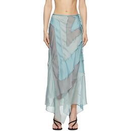 Acne Studios Blue Ben Quinn Edition Chiffon Skirt AF0200-
