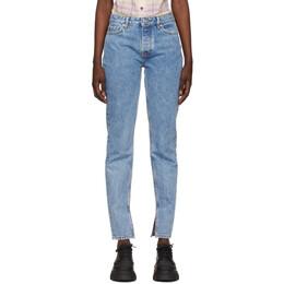 Ganni Blue Denim Classic Mid-Waist Slim Jeans F5721
