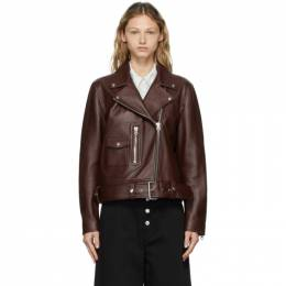 Acne Studios Brown Lambskin Biker Jacket A70066-