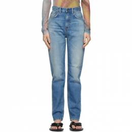 Acne Studios Blue Slim High-Rise Jeans A00282-