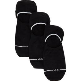Ermenegildo Zegna Three-Pack Black On Point Raw Sockless Socks N5V03 408
