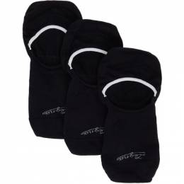 Ermenegildo Zegna Three-Pack Navy Botanic Sockless Socks N5V03 410