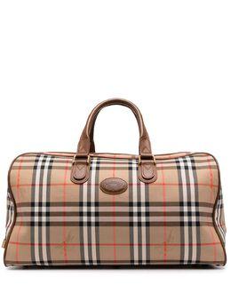Burberry Pre-Owned сумка Boston в клетку House Check YKK