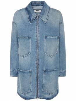 Джинсовая Куртка Mm6 Maison Margiela 74IM8L046-OTY10