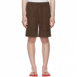 Opening Ceremony Brown Cotton Big Cuff Shorts YMCB001S21FAB0016000