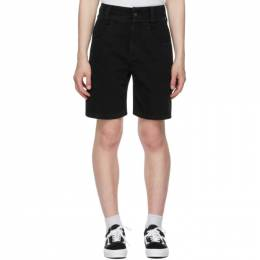 Opening Ceremony Black Denim Baggy Shorts YMYC001S21DEN0021104