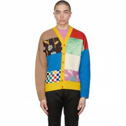 Opening Ceremony Multicolor Patchwork Dropped Cardigan YMHB004S21KNI0018400