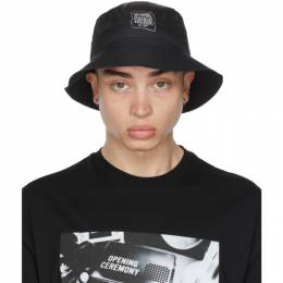 Opening Ceremony Black Warped Logo Bucket Hat YMLA001S21FAB0011101