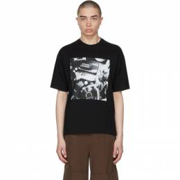 Opening Ceremony Black Pianoprint T-Shirt YMAA001S21JER0051101