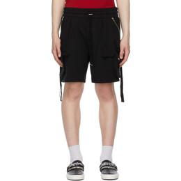 Amiri Black Tactical Cargo Shorts MJSS003-001