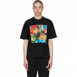 Opening Ceremony Black Cowboy Print T-Shirt YMAA001S21JER0071184