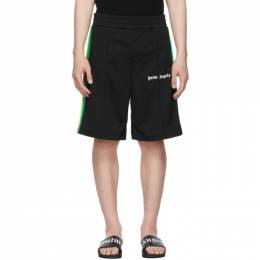 Palm Angels Black Jersey Exodus Track Shorts PMCB011S21FAB0021001