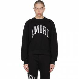 Amiri Black Varsity Sweatshirt MJSC001-001